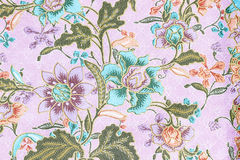 Vintage style of tapestry flowers fabric pattern background Royalty Free Stock Image