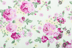 Vintage style of tapestry flowers fabric pattern background Royalty Free Stock Photo