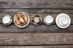 Vintage style tea sets Royalty Free Stock Images