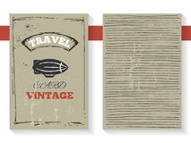 Vintage style travel card with zeppelin banner. Vintage style travel card, brochure, booklet with zeppelin banner, retro rough texture and text space Royalty Free Stock Photos