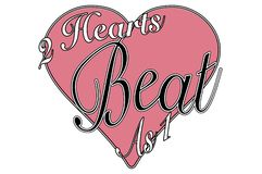 Vintage style valentine greeting 2 hearts beat as 1 stock photos