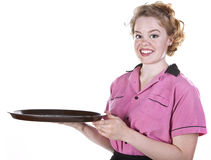 Vintage Style Waitress or Server Stock Images