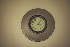 Vintage style wall clock. Stock Image