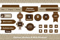 Vintage style web element and labels design Stock Photography