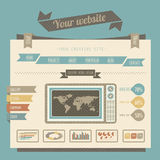 Vintage style website templates Stock Photo