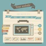 Vintage style website templates Stock Photo