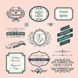 Vintage Style Wedding border and frames Stock Photos