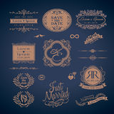 Vintage Style Wedding Monogram border and frames Royalty Free Stock Photo