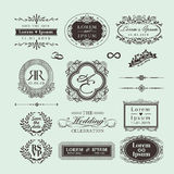 Vintage Style Wedding Monogram border and frames Royalty Free Stock Photography