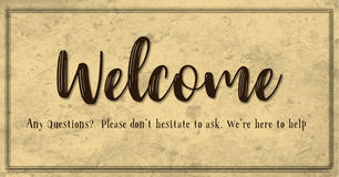 Vintage Style Welcome Banner Royalty Free Stock Photos