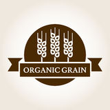 Vintage style wheat label. Vector logo design template. Organic Royalty Free Stock Images