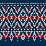 Vintage Style Winter Holiday Seamless Knitted Pattern Stock Photo