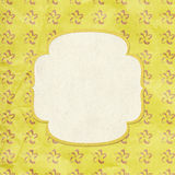 Vintage style yellow background Royalty Free Stock Images