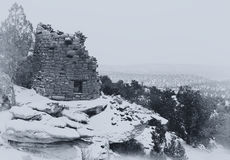 A vintage styled B&W photo an Anasazi ruin. Stock Photography