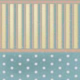 Vintage styled background. Vintage styled vector blue and yellow background in circles and stripes Royalty Free Stock Photos