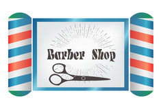 Vintage Styled Barber Shop background,  illustration Royalty Free Stock Photo