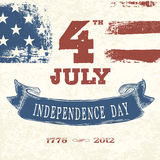Vintage styled card for Fourth July royalty free illustration