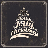 Vintage styled Christmas Card Royalty Free Stock Photos