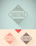 Vintage styled Christmas Card - Set of calligraphi Royalty Free Stock Photos