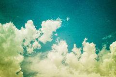 Vintage styled Cloudy and Sky Royalty Free Stock Image