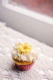 Vintage styled cupcake Royalty Free Stock Images