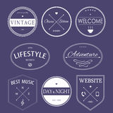 Vintage styled design hipster icons. Stock Image