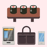 Vintage styled design hipster icons vector signs and symbols templates gadgets element and other things illustration. Stock Photo