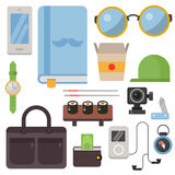 Vintage styled design hipster icons vector signs and symbols templates gadgets element and other things illustration. Stock Images
