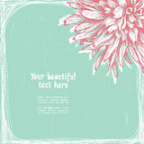 Vintage styled floral card Stock Images