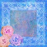 Vintage styled floral frame Stock Image