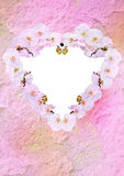 Vintage styled floral heart Royalty Free Stock Images