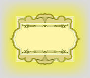 Vintage styled frame for post card Stock Image