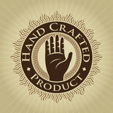 Vintage Styled Hand Crafted Product Seal / Label. Vintage Styled Hand Crafted Product Seal or Label vector illustration