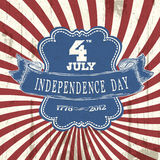 Vintage styled Independence poster Stock Photo