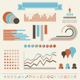 Vintage styled infographics elements Royalty Free Stock Photography