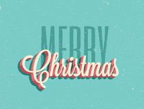 Vintage styled Merry Christmas background. Vector illustration. royalty free illustration