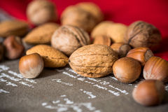 Vintage styled Mixed nuts Stock Photos