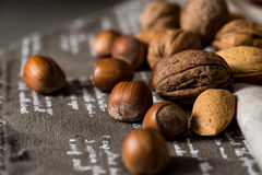 Vintage styled Mixed nuts Royalty Free Stock Photos