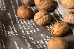 Vintage styled Mixed nuts Stock Images