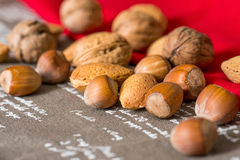 Vintage styled Mixed nuts Royalty Free Stock Image