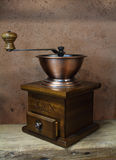 Vintage styled of old coffee grinder Royalty Free Stock Image
