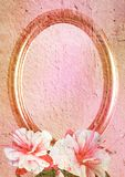 Vintage styled oval frame Stock Photography