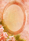 Vintage styled oval frame Royalty Free Stock Photo