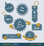 Vintage Styled Premium Quality  Labels Stock Photo