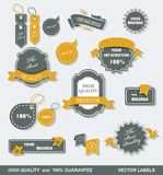 Vintage Styled Premium Quality Labels Royalty Free Stock Photo