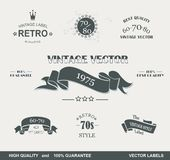 Vintage Styled Premium Quality Labels Royalty Free Stock Photography
