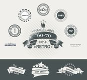 Vintage Styled Premium Quality Labels and Ribbons collection wit Royalty Free Stock Image