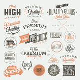 Vintage Styled Premium Quality labels Stock Photography