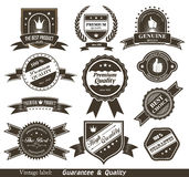 Vintage Styled Premium Quality and Satisfaction Gu Royalty Free Stock Images