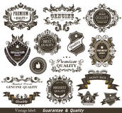 Vintage Styled Premium Quality and Satisfaction Gu Royalty Free Stock Image
